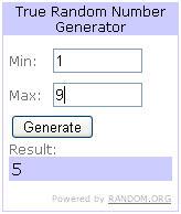 Random.org winner